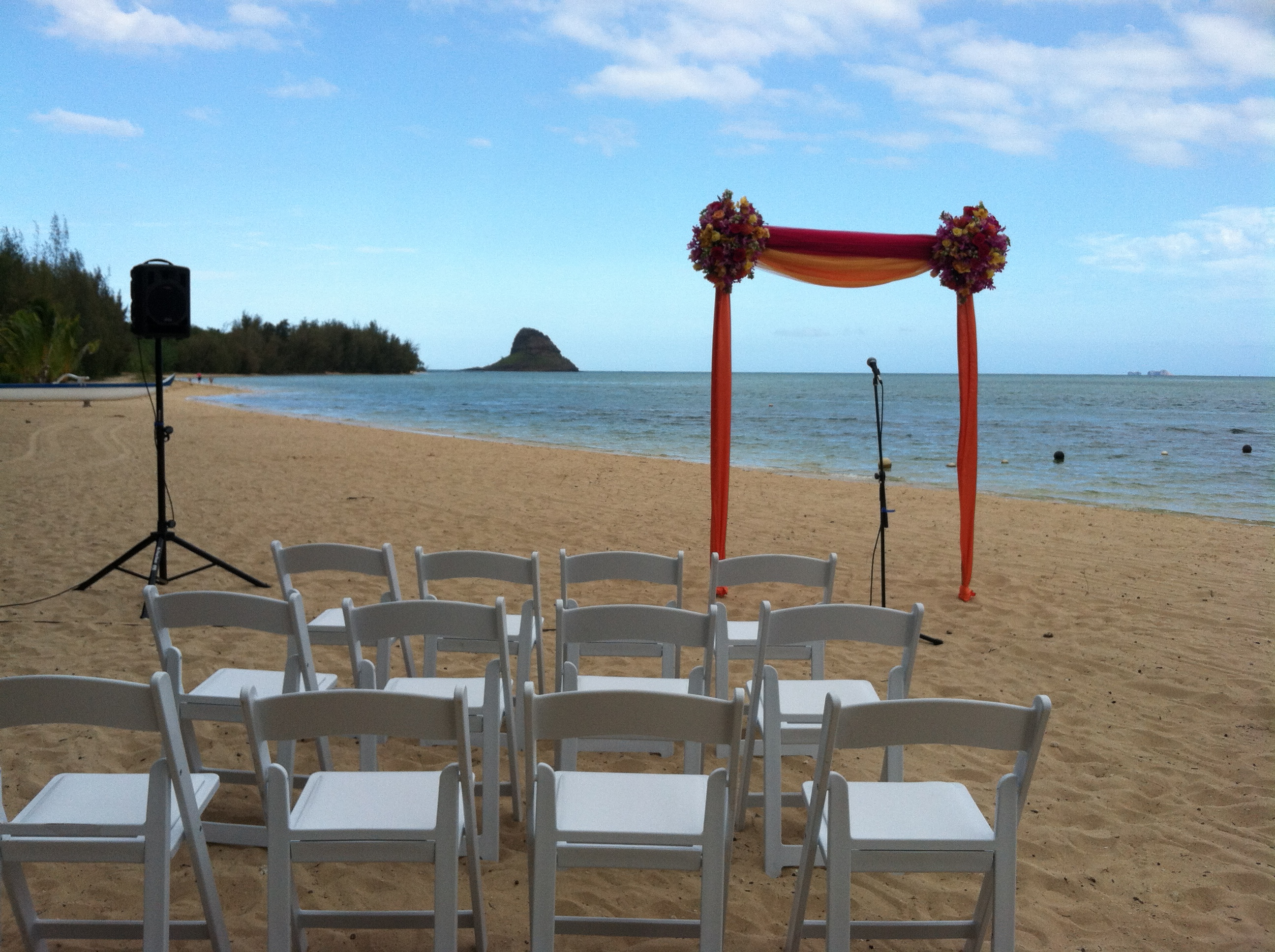 Private Residence Ceremony Beachfront Facade Secret Island