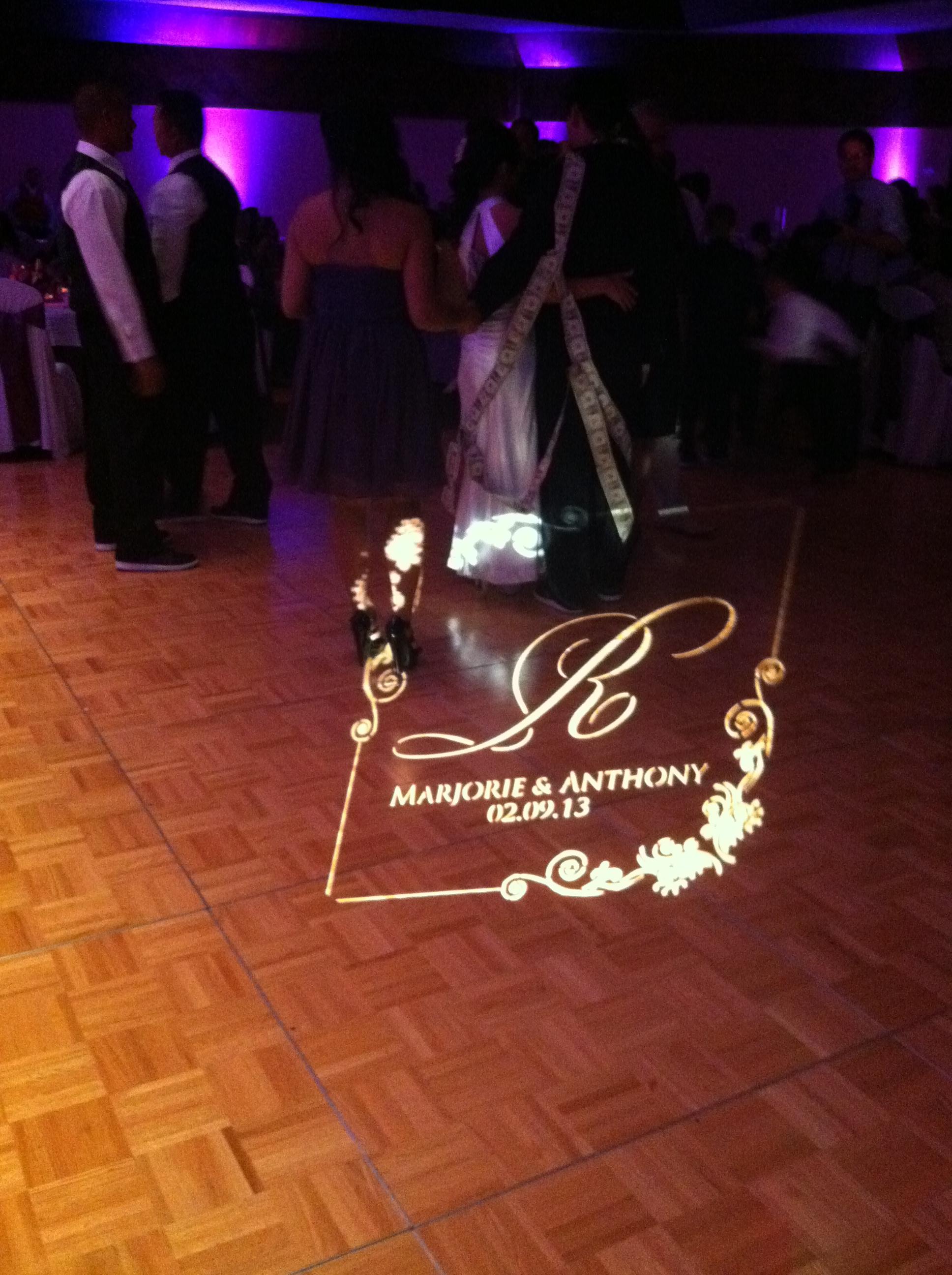 Custom Monogram and Ballroom Lighting – Wedding Bliss ...